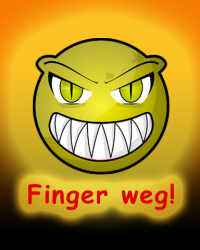 Wallpaper Finger weg!