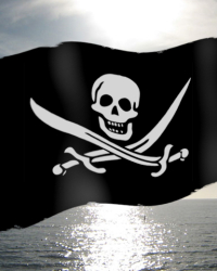 Wallpaper Piratenflagge