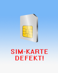 Wallpaper SIM-Karte defekt