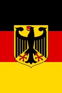 Deutsche Fahne mit Adler